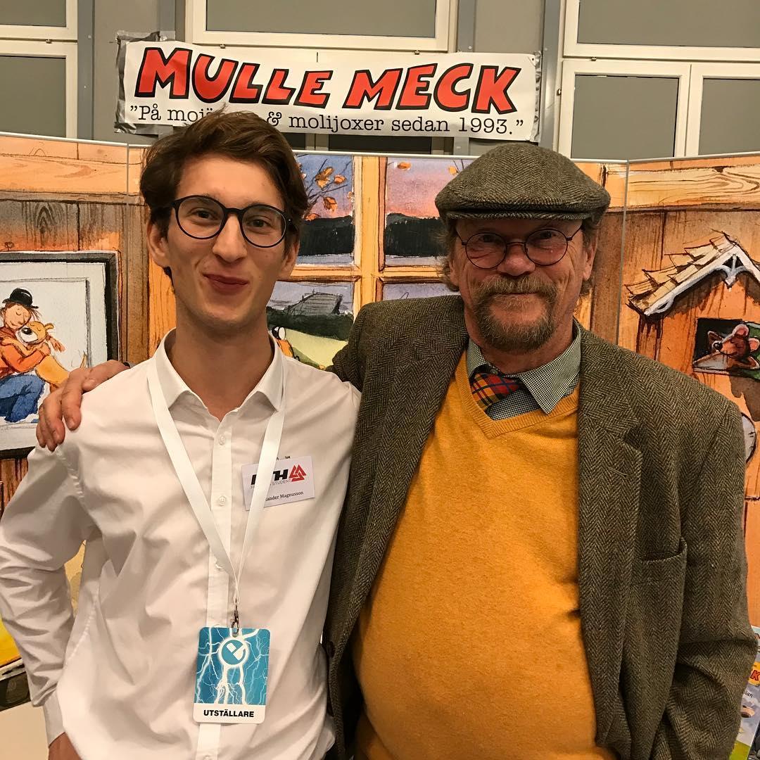 Alexander Magnusson KTH student p besk i Mulles monter Sjlvhellip